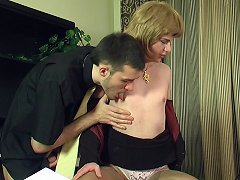 Kinky sissy guy getting down to frantic ass-fucking thrill in the office
