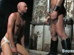 New slave chet gets tied up and fucked by Master Tober