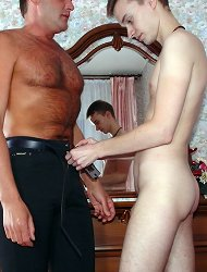 Lad likes to feel hot and hard cocks of older men in his tight anal hole