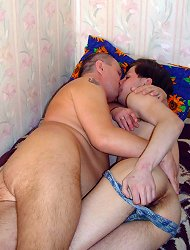 Lad\'s neighbor eyes blaze with passion and he just moves his throbbing dick in twink\'s mouth