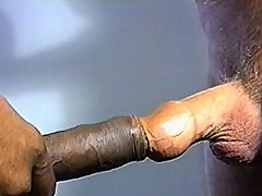 Interracial dick fucking with two guys
