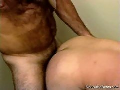 Two hairy bears love to suck each other\\\'s dicks and take it up their tight assholes