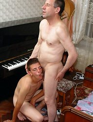 Older piano teacher fucks his student twink