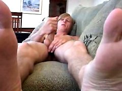 Skyler is stroking his fucking huge dick and finish him hard