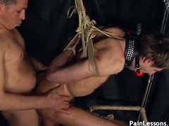 Young blond lad explores the kinky pleasures of ultimate gay sex submission
