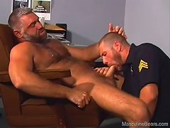 Who knew how badly this cop needed this bear\\\'s hard cock inside of his asshole?