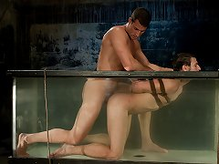 Rusty Stevens ties up and fucks Derrek Diamond underwater.