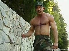 I wouldn\\\'t fuck with this buff sergeant after he stuffs his dick in this guy\\\'s mouth
