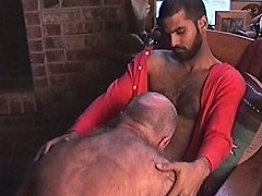Old white guy blows a hairy stud