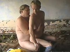 Elderly stud fucks his younger boyf
