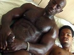 Big black stud works his tool